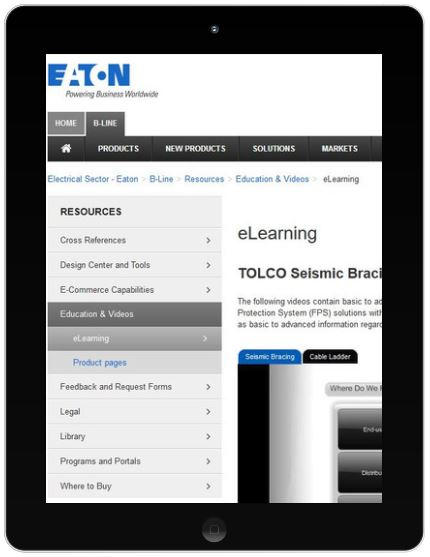 Eaton B-Line E-learning